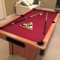 7' Pool Table in Great Condition Red Felt